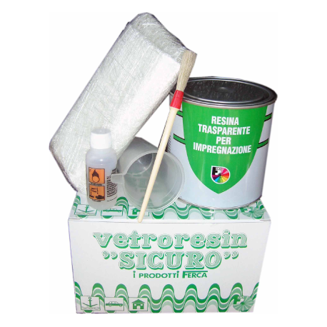 Kit riparazione (VETRORESIN SICURO)